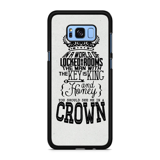 You Should See Me In A Crown Moriarty Quote Samsung Galaxy S8/S8+ case