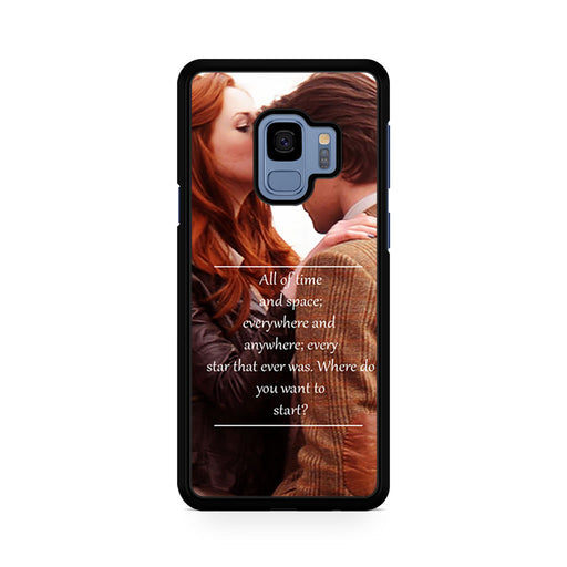 Eleventh Doctor Who Matt Smith Time And Space Quote Samsung Galaxy S9/S9+ case