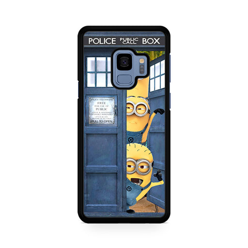 Three Despicable Me Minion In Dr Who Tardis Call Box Samsung Galaxy S9/S9+ case