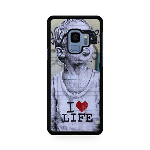 Banksy I Love my life Samsung Galaxy S9/S9+ case