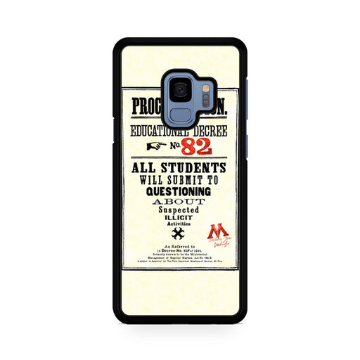 Harry Potter Proclamation Educational Decree No. 82 Samsung Galaxy S9/S9+ case