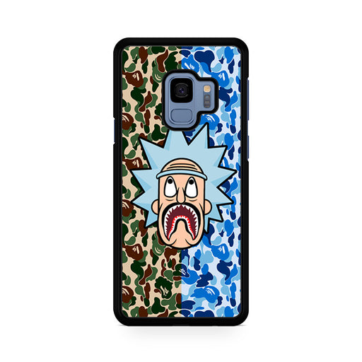 Rick and Morty Bape Shark Camo Samsung Galaxy S9/S9+ case