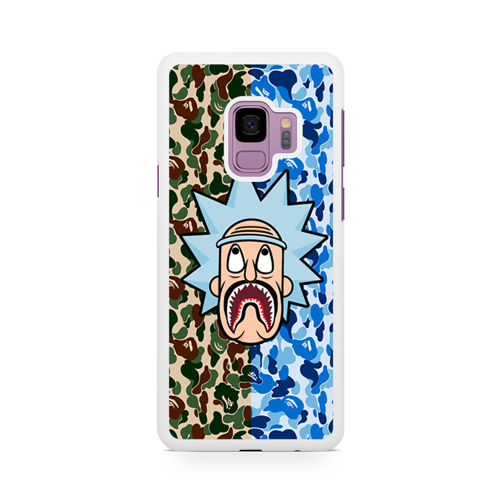 huge selection of e0a5c 0bdb3 Rick and Morty Bape Shark Camo Samsung Galaxy S9/S9+ case
