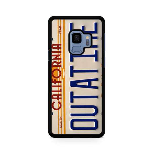 Back To The Future Delorean License Plate Samsung Galaxy S9/S9+ case
