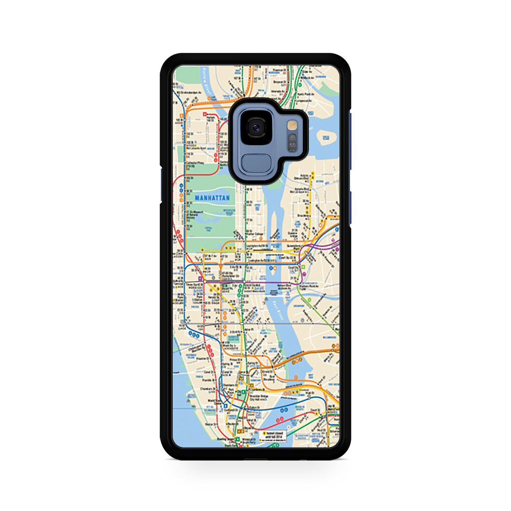 Retro New York Map Samsung Galaxy S9/S9+ case