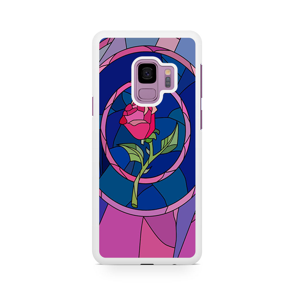 Flower Beauty and the Beast Stained Glass Samsung Galaxy S9/S9+ case