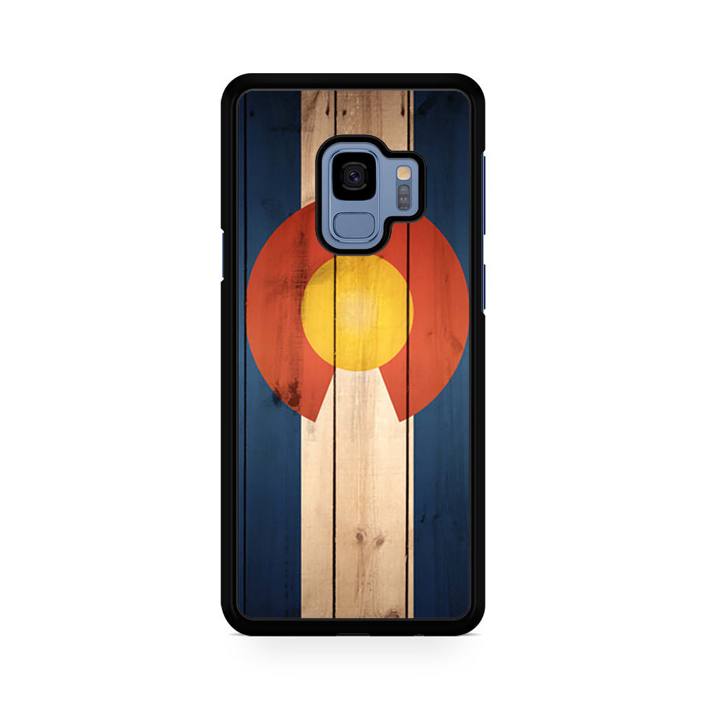 Colorado Flag US State Wood Samsung Galaxy S9/S9+ case