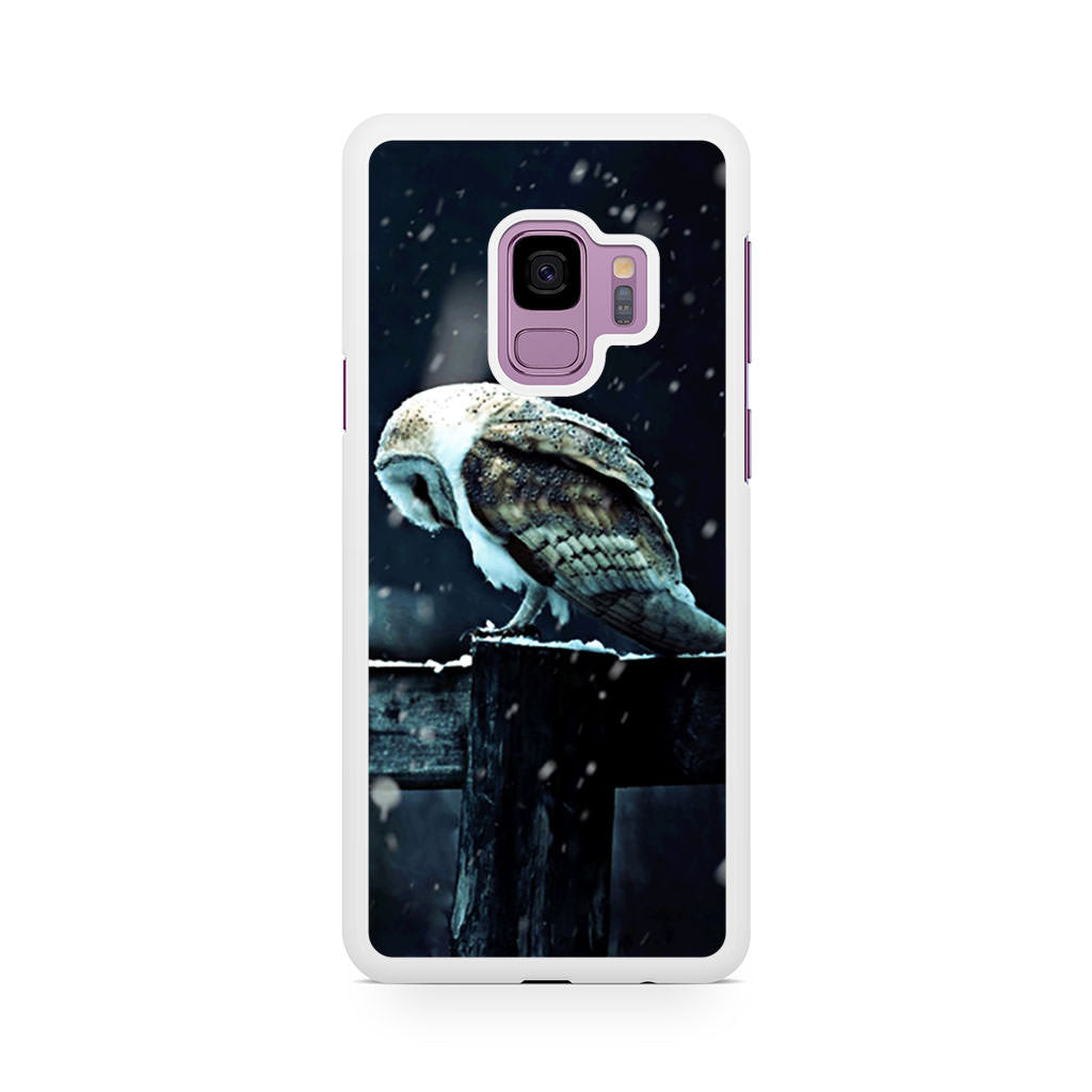 Barn Owl Tyto Alba in Snow Samsung Galaxy S9/S9+ case