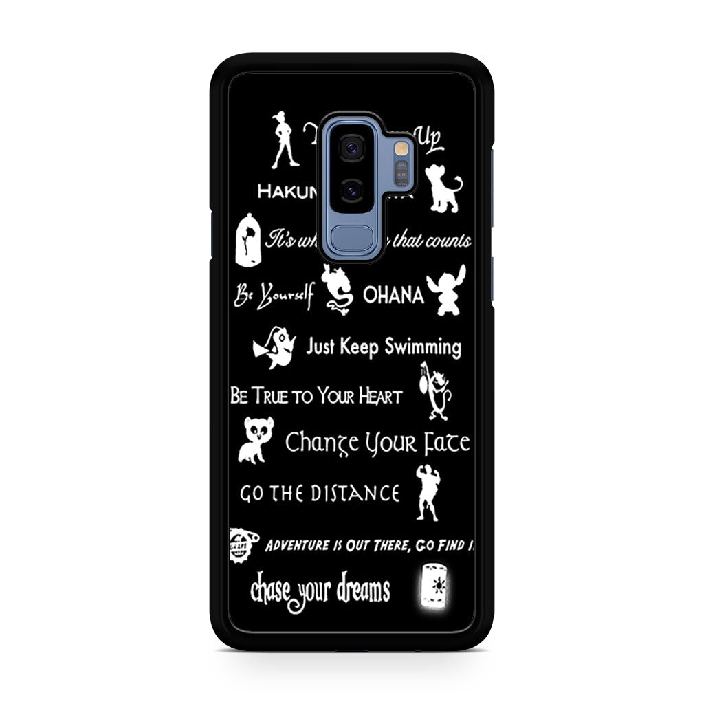 Disney Lessons Learned Mash Up Samsung Galaxy S9/S9+ case