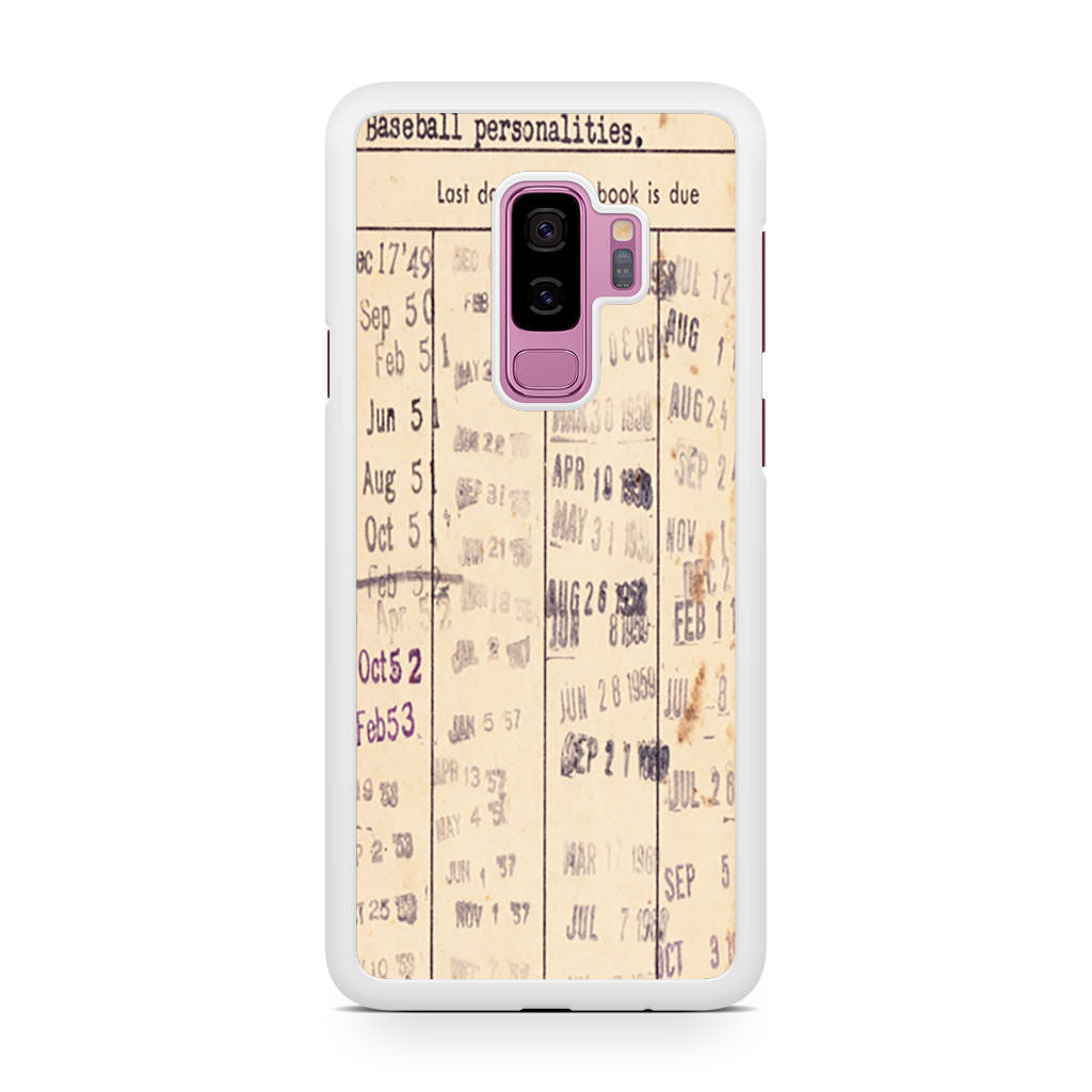Due Date Stamps Samsung Galaxy S9/S9+ case