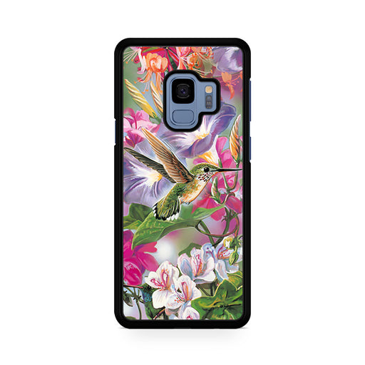 Flowers and Hummingbird Stained Glass Samsung Galaxy S9/S9+ case