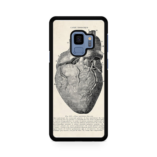 Vintage Medical Anatomical Heart Diagram Samsung Galaxy S9/S9+ case