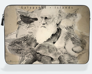 "Porta Laptop ""Darwin y Animales"""