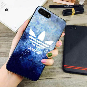 sneakers for cheap 294a8 fc67c blue marble adidas iphone 8 plus case