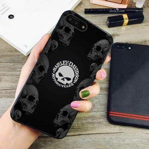 super popular 8a20b d2604 harley davidson logo skull iphone iphone 7 plus case