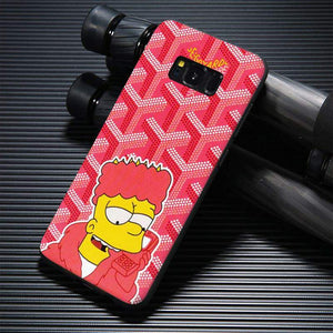 finest selection 9453f ec003 luxury goyard bart simpson cartoon samsung galaxy s8 case