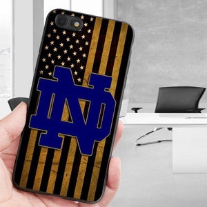 brand new 9f5ec d56a1 notre dame fighting irish flag iphone 6 case
