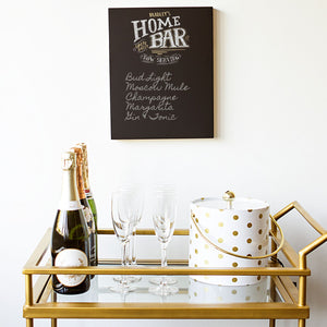 How to Stylize the Perfect Bar Cart