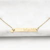 be{you}tiful Horizontal Bar Necklace