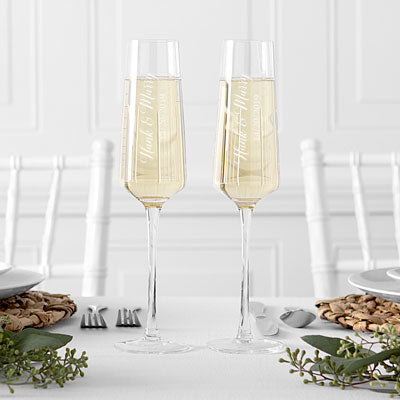 Wedding Champagne Estate Glasses