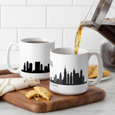 Cityscape 20 oz Coffee Mugs (Set of 2)