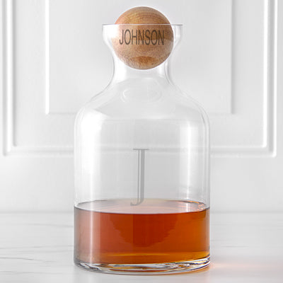 56 oz. Glass Decanter with Wood Stopper