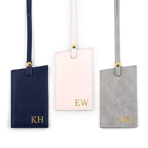 Personalized Faux Leather Luggage Tag