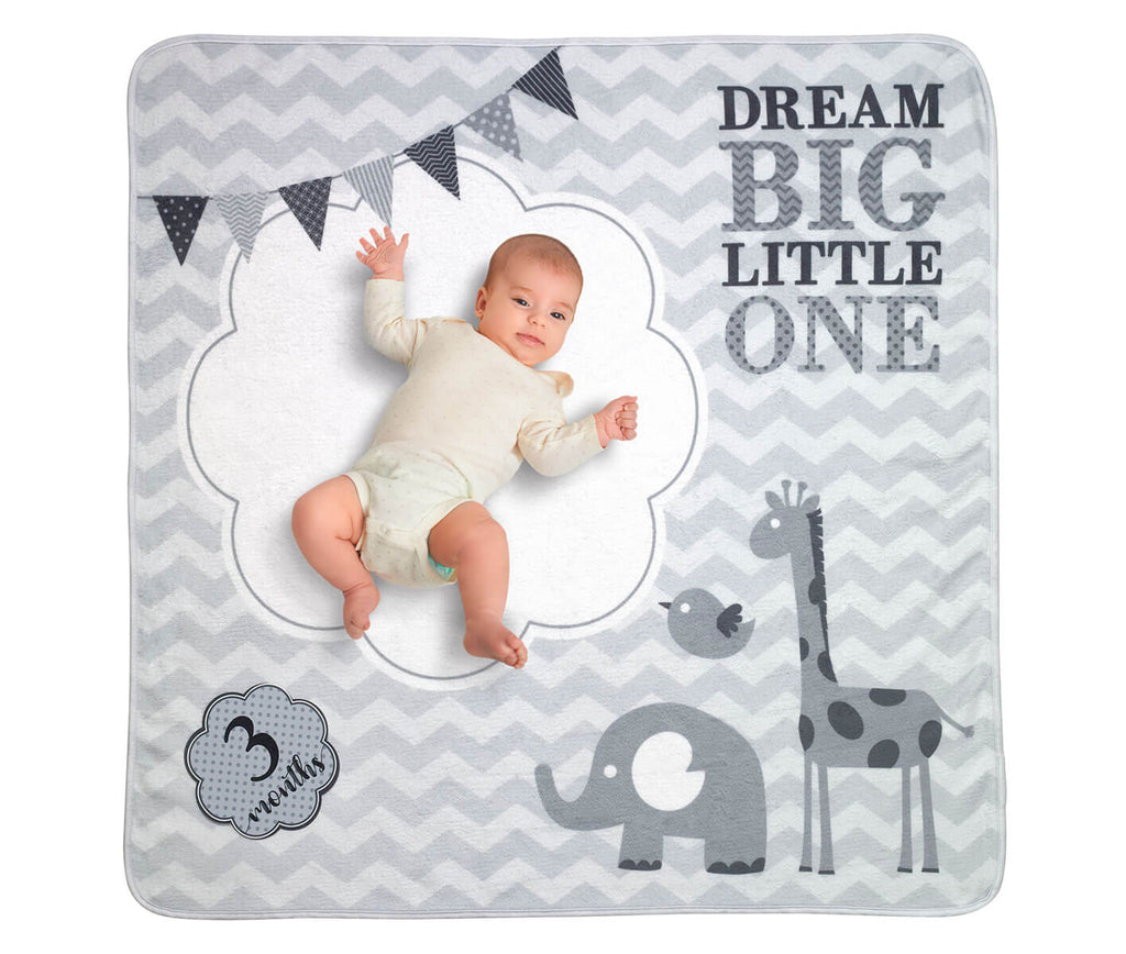 Dream Big Little One Milestone Baby Blanket