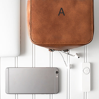 Brown Travel Tech Case