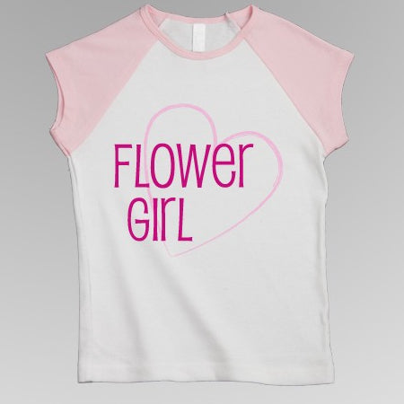Flower Girl / Junior Bridesmaid Cap Tee Shirt (4 Styles)