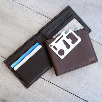 RFID Bi-Fold Wallet with Multi-function Tool