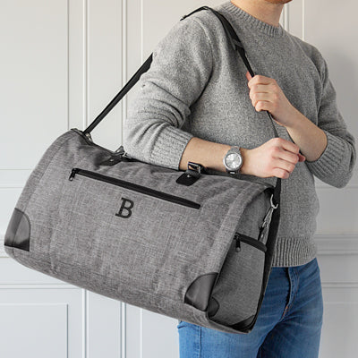 Grey Convertible Garment Bag
