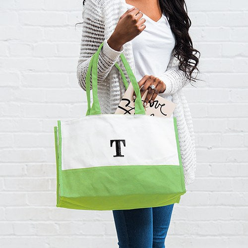 Color Block Personalized Tote Bag