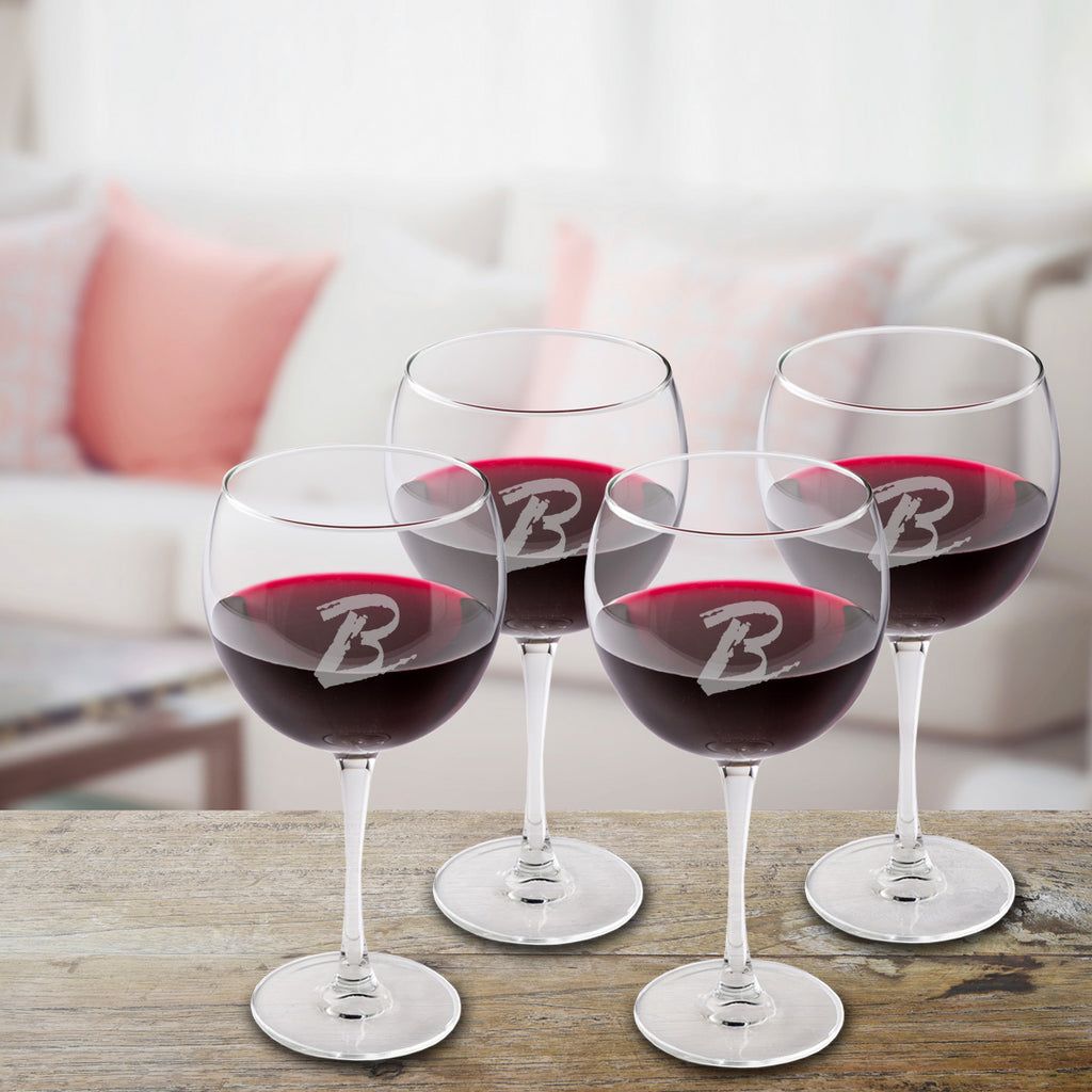 Personalized Connoisseur Red Wine Glasses (Set of 4)