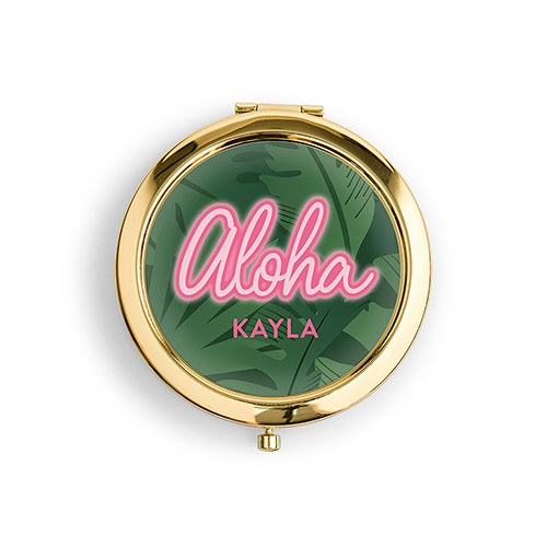 Aloha Personalized Compact Mirror