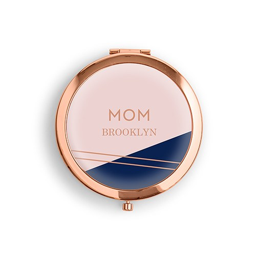 Retro Luxe Personalized Compact Mirror