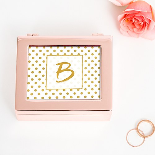 Polka Dot Personalized Metal Jewelry Box
