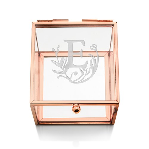 Fairytale Initial Rose Gold Personalized Jewelry Box
