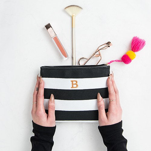 Bliss Striped Makeup Bag