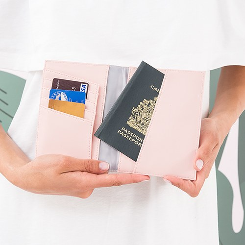 Personalized Faux Leather Passport Cover