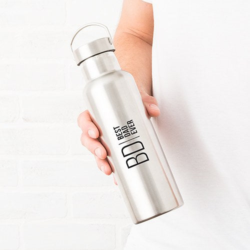 Modern Logo Chrome Water Bottle With Handle