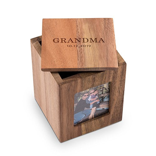 Classic Wooden Keepsake Box with Frame