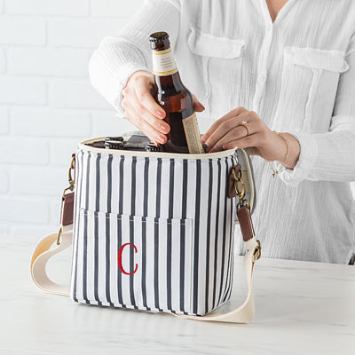 Striped Bottle Cooler