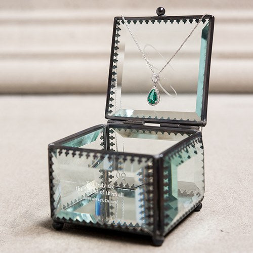 Vintage Glass Jewelry Box