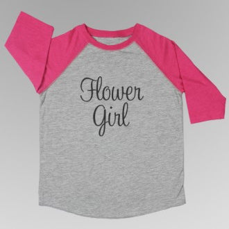 Flower Girl / Junior Bridesmaid Baseball Tee