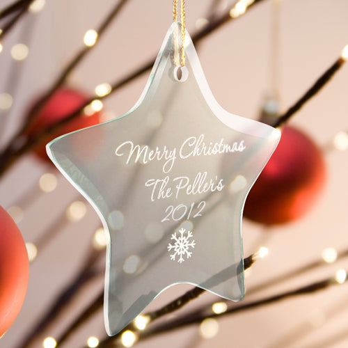 Personalized Glass Ornaments (In 5 Styles & 15 Designs)