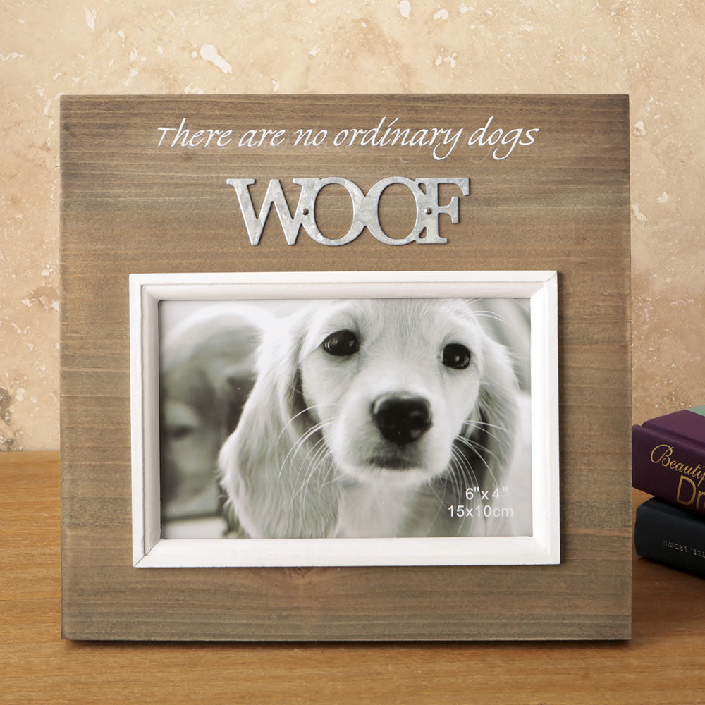 Woof Wooden Picture Frame