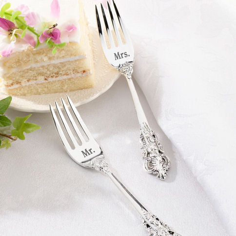 Mr and Mrs Silver Fork Set