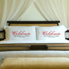 Personalized Celebration Couples Pillow Case