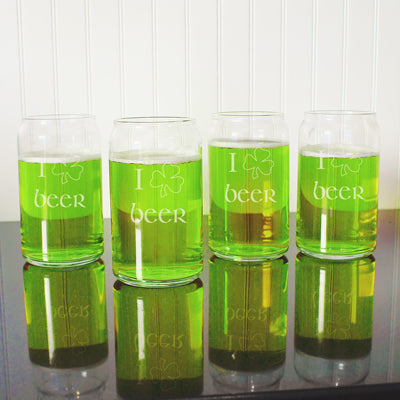 St. Patrick's Day Beer Can Glasses (In 2 Designs)
